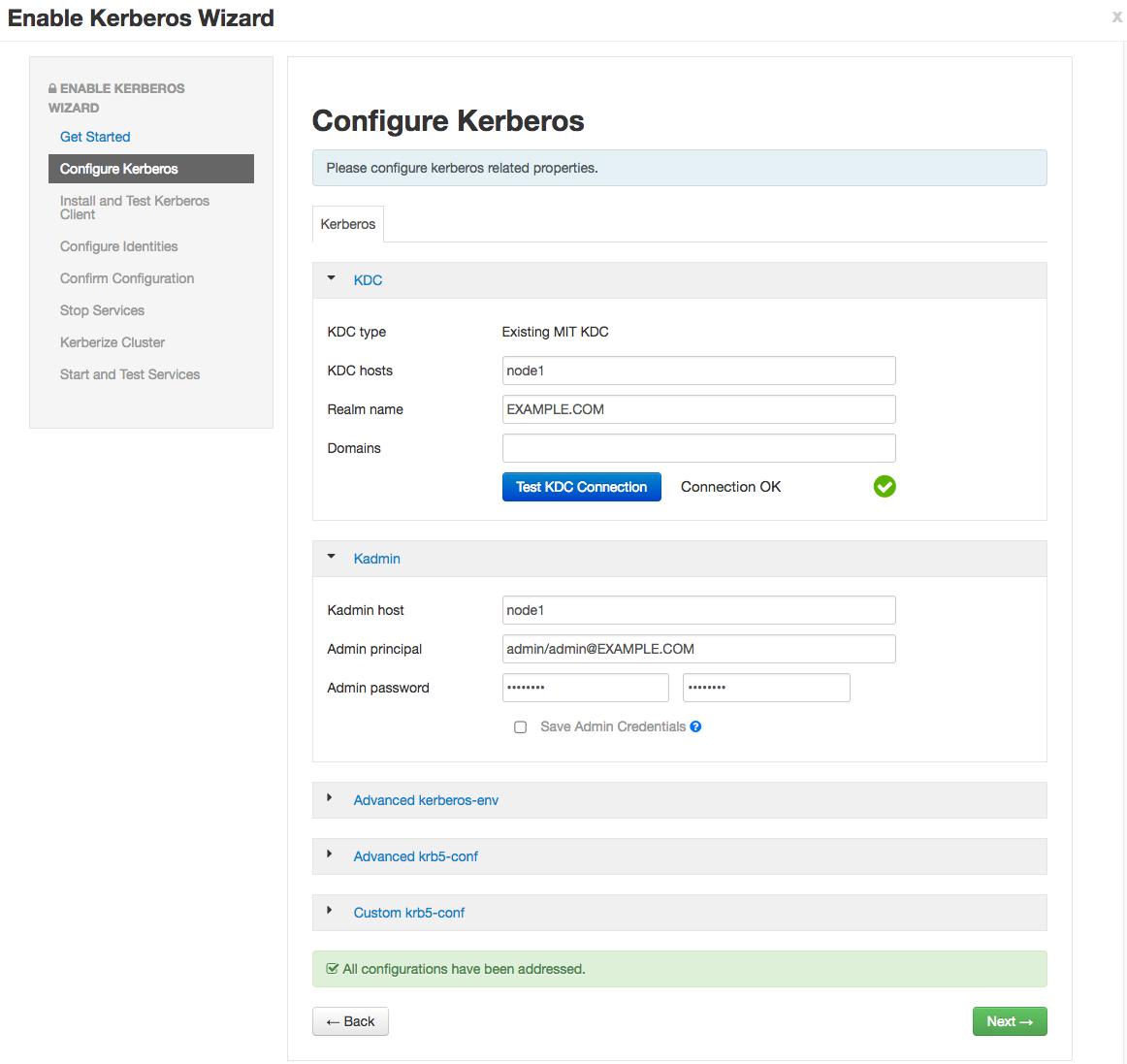 Metron – Kerberos Setup
